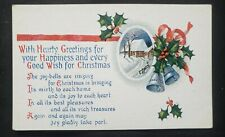 Antique Christmas Card Postcard unused Embossed design