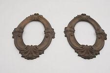Pair of Old Brass/Bronze Oval Frames Antique Victorian (G4R) 11x6.5
