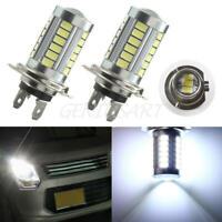 2xH7 Super Bright White 5630 SMD 33 LED 12V Auto Car Fog Driving Light Lamp Bulb