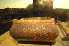 """Vintage Tin Box Embossed With Lotus flowers Egyptian handmade """"without cover"""""""