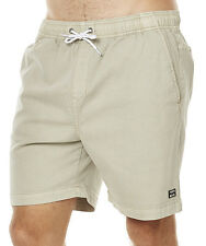 "NEW + TAG BILLABONG MENS SIZE 34"" NEW ORDER ELASTIC WALK SHORTS STRETCH STONE"