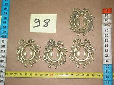 Lot98) 4 entrées de serrure bronze ou laiton QUINCAILLERIE D'AMEUBLEMENT  ÉBÉNIS