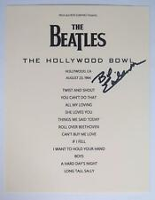 Bob Eubanks THE BEATLES Signed Autograph Live At Hollywood Bowl 1964 Set List