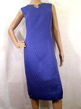 KASPER Medium Purple Geometric Sleeveless Sheath Dress, Size 16
