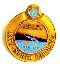 Pin Spilla Lions International 1975 North Carolina From The Mountains To The Sea