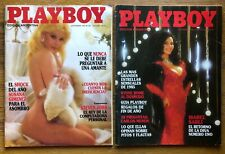 New listing PLAYBOY 1985 SUSANA GIMENEZ ISABEL SARLI The two rearest issues from Argentina