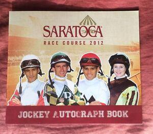 2012 Saratoga Jockey Autograph Book