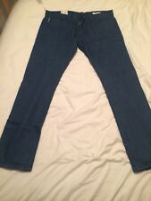 Bnwt M&S Mens Blue Slim Jeans 44/31 Worth £45