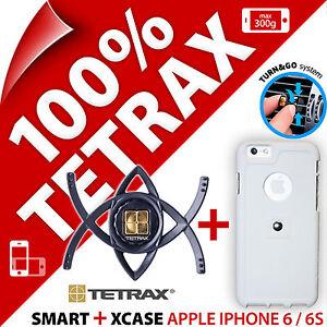 Tetrax Bundle Smart In Car Holder + Xcase Case for APPLE IPHONE 6 / 6S / SE 2020