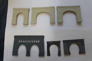 N Scale Tunnel Entrance Portals set of 7