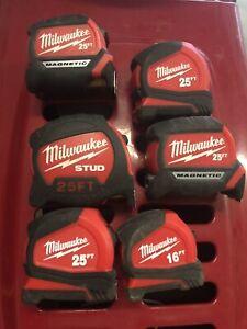Milwaukee Set Of 6 - Tape Measure