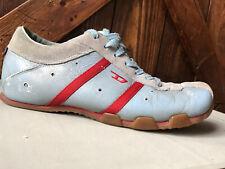 🙃Evelyn Diesel Footwear girls women's tennis shoes size 8.5 blue & red stripes