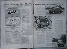 1953 Morris Minor Original Motor magazine Road test
