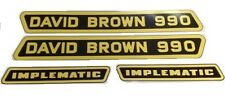 David Brown 990 Tractor Implematic Decal