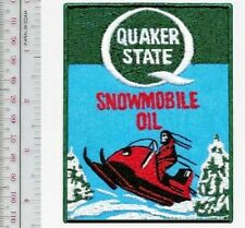 Snowmobile & Quaker State Oil Lubricants Houston Texas 1970's Promo Patch