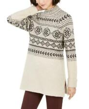 MSRP $60 Style & Co Fair Isle Tunic Sweater Beige Size Large