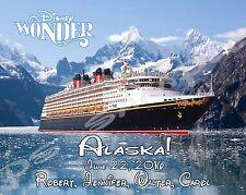 5x7 CUSTOM Disney Cruise Door Magnet - WONDER ALASKA