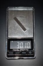 """Bulk Pinewood Derby Weights- 5 99.95% Pure W bars are faster than 30 1/4"""" cubes"""
