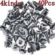 40pcs Car Rivets Fender Fastener Bumper Push Clips Screws Plastic Mud Flaps