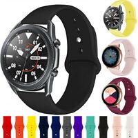 20mm 22mm Für Samsung Galaxy Watch 3 Active2 Wrist Armband Silikon Sport Strap