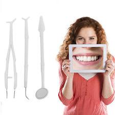 Dentalset Mundspiegel Zahnreinigung Zahnsteinkratzer Zahnpinzette Zahnspi SALE