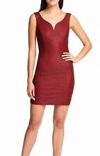 Guess Womens Bandage Dress Red Size 14 Sweetheart Bodycon V-Neck $108 #132