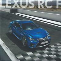 Lexus RC F UK Market Brochure 2014 2015 includes RCF Carbon Excellent Condition