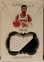2018 Panini Flawless Patches #33 Dennis Smith Jr. /15 Patch #P-DSJ Jersey MINT!