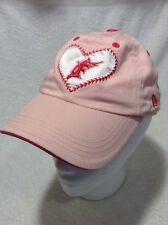 new product da57c 3785e New Era Florida Marlins Girls Baseball Cap Hat Pink Child One Size Strap  Back