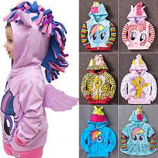 Girl Kid Toddler Hoodie My Little Pony Long Sleeve Cute Sweatshirt Coat Jacket