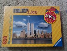 2001 Ravensburger 890 pc Relief Line Puzzle Twin Towers New York SEALED
