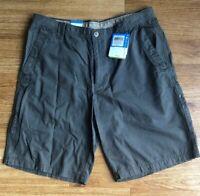 "Columbia Mens Ultimate ROC 11"" Omni-Shield Khaki Cotton Shorts Green NWT 34/36"