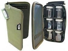 Glug Pots in Case Bag  + Stiff Rig Wallet  Carp Fishing Tackle