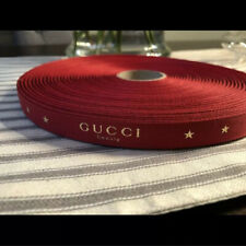 �� 1 Yard 2019 Gucci Beauty Red & Gold Stars Ribbon ��