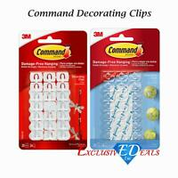 3M Command Decorating Hooks Clips with Adhesive Strips 17026CLR / 17026