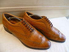 OFFICINE Creative Tan in Pelle Oxford CALATA UK 8 42 realizzato a mano all'inglese Lace-Up
