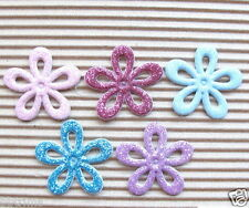 """US SELLER - 50 x 1"""" Mix Spring Flower Padded Appliques/Shiny for Bows/Cards ST35"""