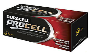 Duracell Procell AA Batteries - Sold in Boxes of 24 (.65ea)
