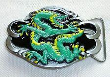 Gürtelschnalle Feuerdrache grün Buckle Drache Dragon Ritter Larp Ungeheuer