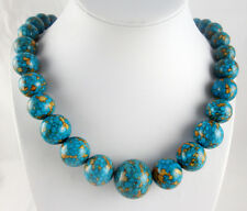 Natural multicolor Turquoise&agate Handmade Gemstone Jewellery Necklace  TN1