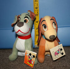 Walt Disney Favorites WDW Lady and the Tramp Plush Toy New with Tags VHTF