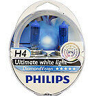 Philips H4 diamond vision 5000k Power phare de voiture Ampoules H4 diamond vision H4
