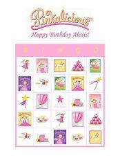 Pinkalicious Purplicious Goldilicious Birthday Party Game Bingo Cards