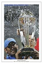 MS DHONI INDIA CRICKET WORLD CUP 11 SIGNED PHOTO PRINT