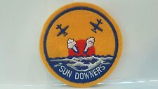 Navy Sun Downers Round Color Patch 3 1/4 x 3 1/4 inches
