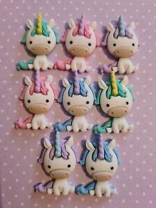 Unicorn Hair Bow Flatback Crafting Embellishments Multicoloured