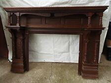 Victorian Eastlake Fireplace Mantel Oak