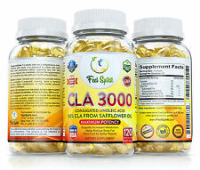 CLA 3000 mg Best Rapid Fast Weight Loss Supplement Diet Pills Maximum Strength