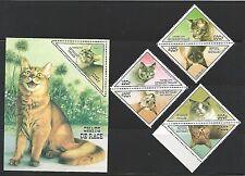 Togo 1999 Domestic Cats Hauskatzen complette set Satz MNH