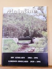 Mainline Modeler 1991 August Railraod crossovers and targets KY river Bridges